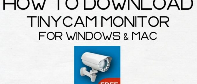 tinycam monitor for PC